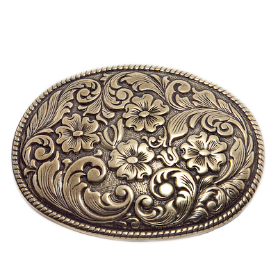 classic western nickel and brass belt buckles